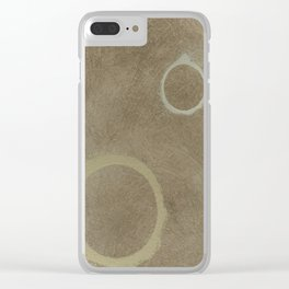 Two Circles - Modern Art - Abstract - Fine Art - California Cool - Popular Painterly Clear iPhone Case