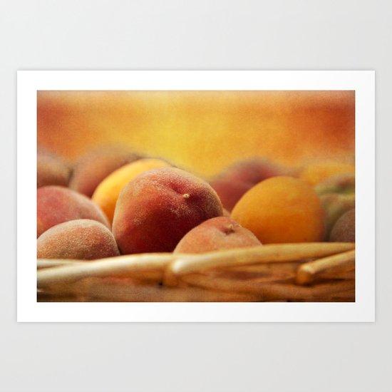Fuzzy Peach Art Print