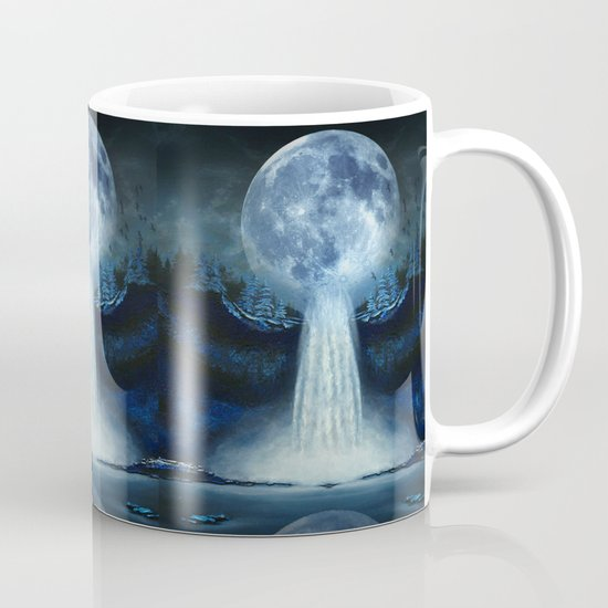 waterfall moon Mug