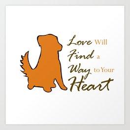 Dog Love Art Print