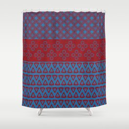Japanese Style Bohemian Pattern Shower Curtain