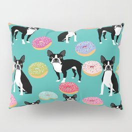 Boston Terrier donuts cute gifts for pure breed dog lover boston terriers owners Pillow Sham