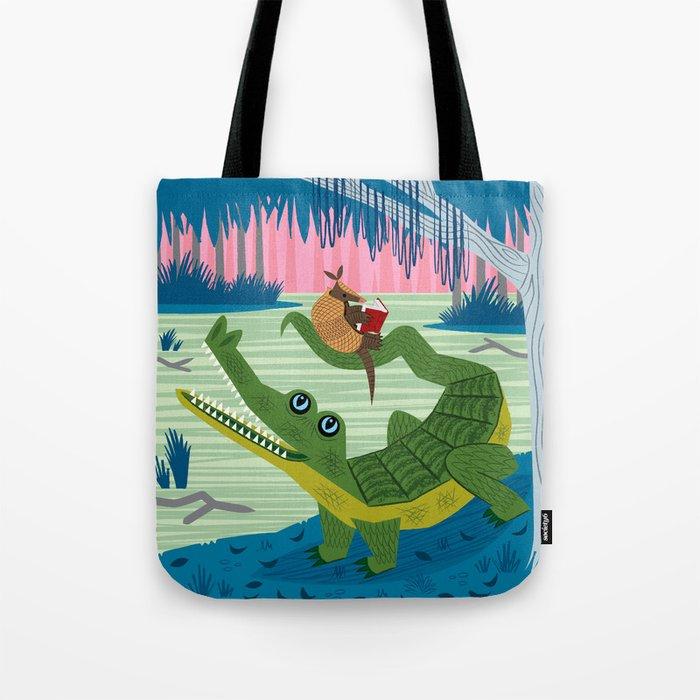 The Alligator and The Armadillo Tote Bag