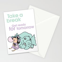 Lala's Adventure - A Smile is a curve that sets everything straight. Stationery Cards