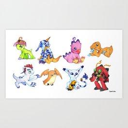 Digimon Group Art Print