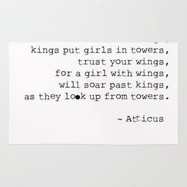 Trust No Kings - Atticus - Typewriter Rug