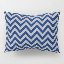 Chevron Pattern - navy and grey - more colors Pillow Sham
