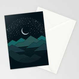 Between The Mountains And The Stars Stationery Cards