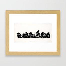 Primer apunte melancólico I  Framed Art Print