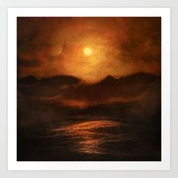 sunset Art Prints featuring Sunset by Viviana Gonzalez