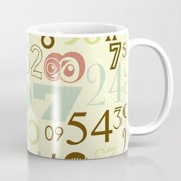 Retro Numbers Coffee Mug