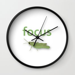 Focus Grasshopper Wall Clock