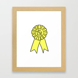Most Likely To Not Fold Laundry Framed Art Print