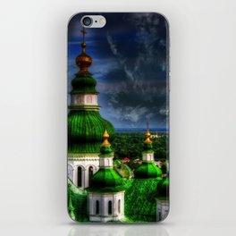 Domes of Trinity Cathedral, Chernigov, Ukraine iPhone Skin