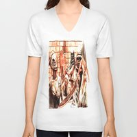 silent hill V-neck T-shirts featuring Silent Hill by Joseph Silver
