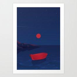 Ocean of night #1 Art Print