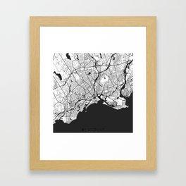Bridgeport Map Gray Framed Art Print