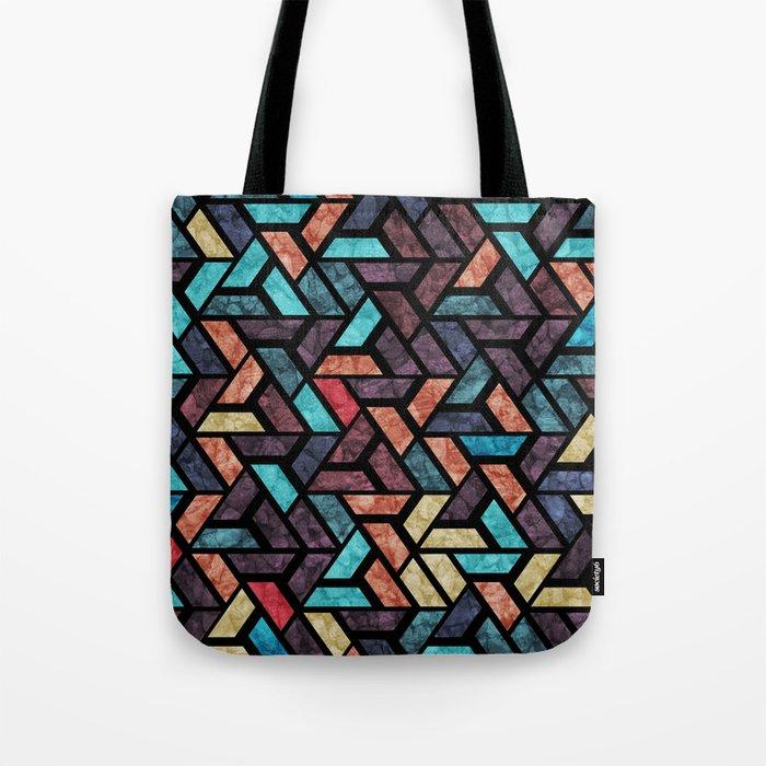 Seamless Colorful Geometric Pattern XV Tote Bag