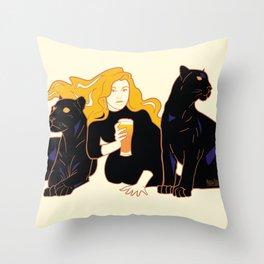Panther Brews Throw Pillow