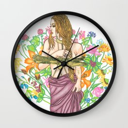 Where The Wild Things Grow Wall Clock