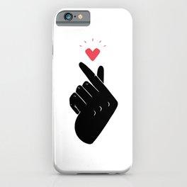 Saranghae (Black & White) iPhone Case