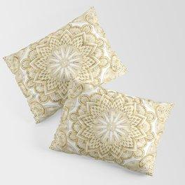 Orient Espresso Pattern Mandala Gold Pillow Sham