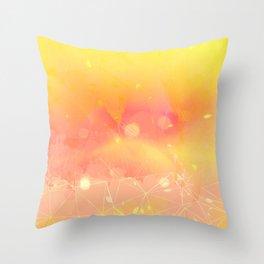 Digital Modern Yellow Abstract Design Throw Pillow