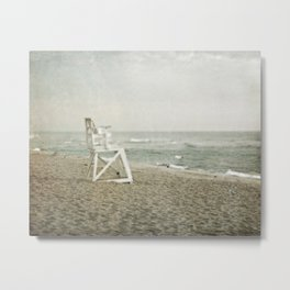 Lifeguard Chair at Dawn Metal Print