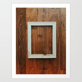 Wooden Floor Hanging. Piece #2 Art Print