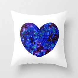 Space Heart Throw Pillow