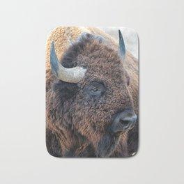 OLena Art Bison the Mighty Beast - Bison das mächtige Tier North American Wildlife Bath Mat