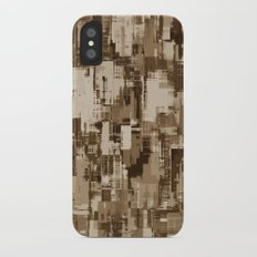 Abstract Brown Camo pattern iPhone X Slim Case