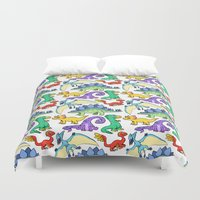 dinosaurs Duvet Covers featuring Dinosaurs!!!! by Morgan