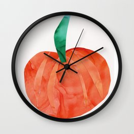 Pumpkin for Fall, October, Halloween Wall Clock