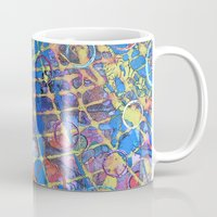 grid Mugs featuring Grid by Heather Plewes Art