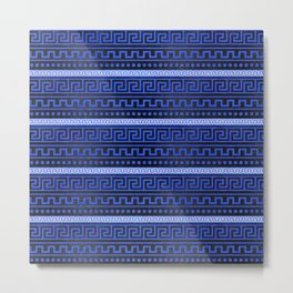 Traditional Greek Meander Pattern Metal Print
