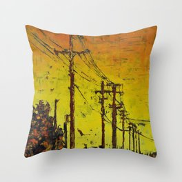 Maple Sunset Throw Pillow