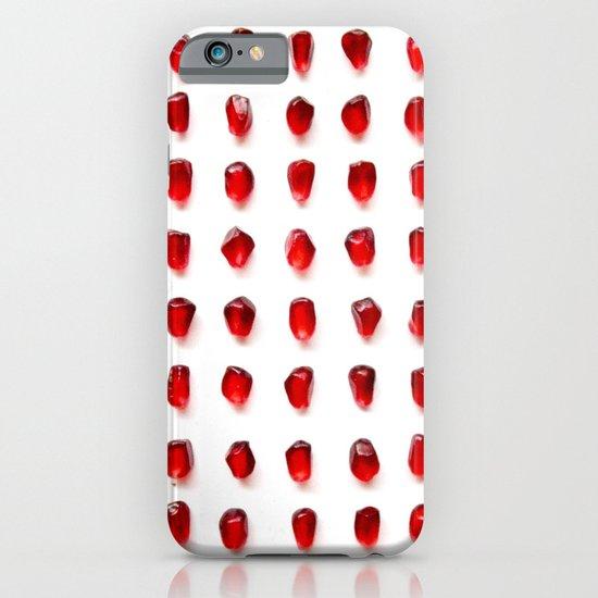 pomegranate seeds, organized neatly iPhone & iPod Case