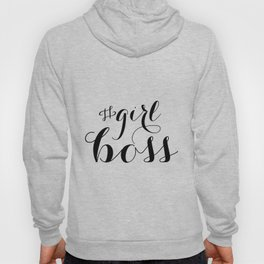 "Decor Boss Gift Artist Gifts Typography Print Typography Wall Art  ""Girl Boss"" Funny Wall Art Print Hoody"