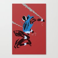 spider man Canvas Prints featuring Spider-Man - Scarlet Spider by TracingHorses