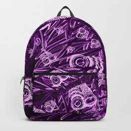 Mosaic of Owls V2 Purple Backpack