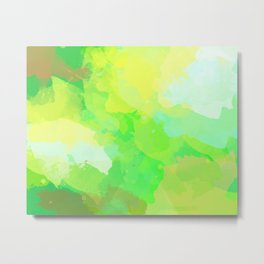 Colorful Abstract - green pattern, forest, nature Metal Print