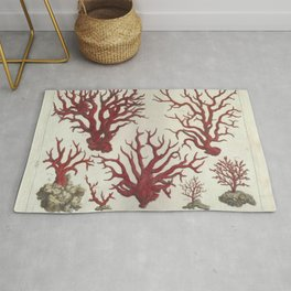 Naturalist Red Coral Rug