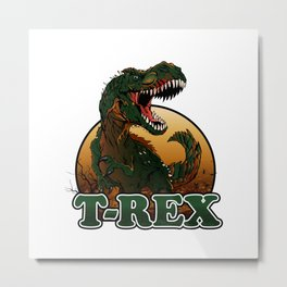 Agressive t rex illustration Metal Print