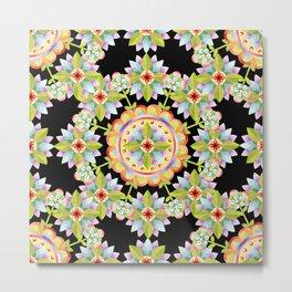 Starflower Mandala Blossoms Metal Print