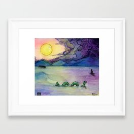 A Lake Monster Morning Framed Art Print