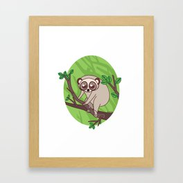 Kawaii loris Framed Art Print