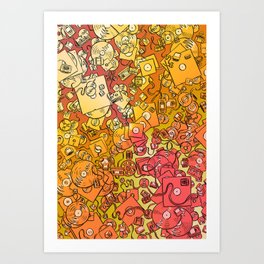 Technology Psychedelic Warm Art Print
