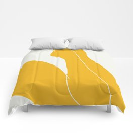 Nude in yellow 3 Comforters