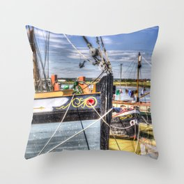Thames Sailing Barges. Throw Pillow